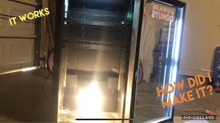 DIY incubator from mini fridge…