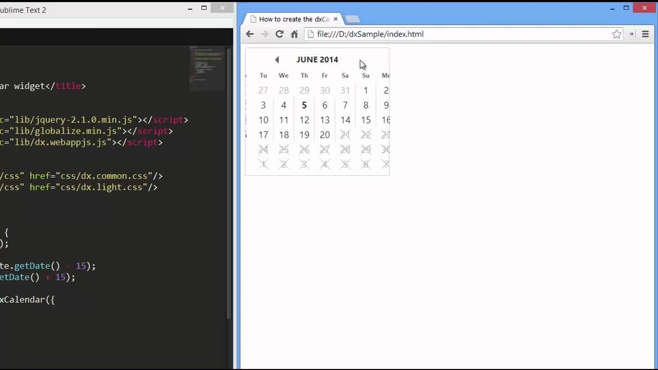 DevExpress DevExtreme: HTML5 Calendar