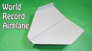 How to fold the world record paper airplane - Paper airplanes that fly far