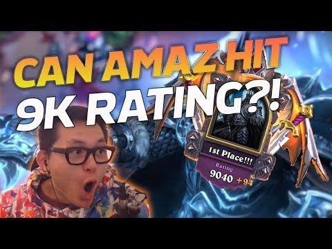 Can Amaz hit 9K RATING!? - Hearthstone Battlegrounds