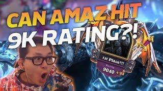 Can Amaz hit 9K RATING!? - Hearthstone Battlegrounds