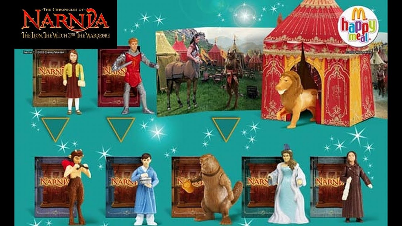 the chronicles of narnia happy meal toys complete set from