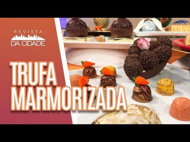 Trufa Marmorizada de Romã - Revista da Cidade (06/03/19)
