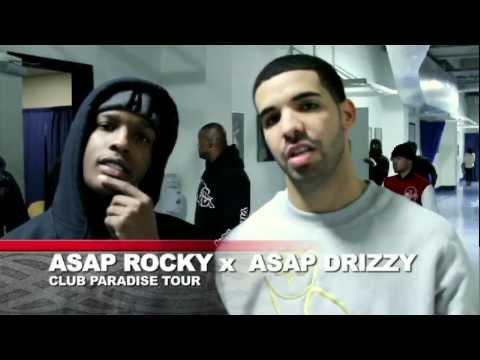 DRAKE & ASAP ROCKY BACKSTAGE OF CLUB PARADISE TOUR @ PENN STATE