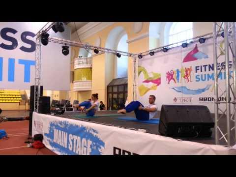 Katia Vasilenko & Grigory Churkaev - Pilates Choreography Fitness Summit 2013 St. Petersbourg