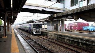 JR予讃線 新居浜駅を通過する8000系 JR Yosan Line Niihama Station (2018.9)