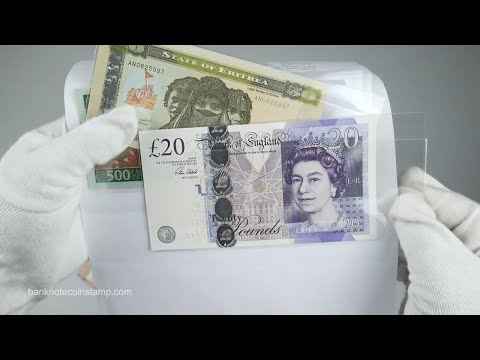 What's Inside This Banknotes Package ? United Kingdom Pounds