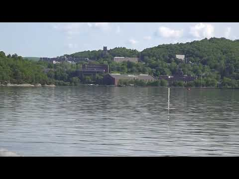 West Point Academy seen across tranquil Hudson River from Cold Spring 5/23/18