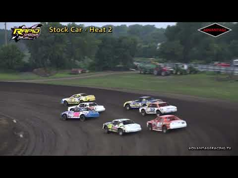Stock Car Heats/Hobby B Feature - Rapid Speedway - 8/10/18