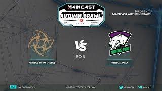 🤠[RU] Virtus.pro vs Ninjas in Pyjamas | Bo3 | Maincast Autumn Brawl by @Tekcac