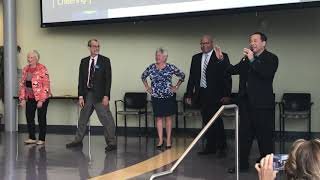Highline College Exec Staff break dance