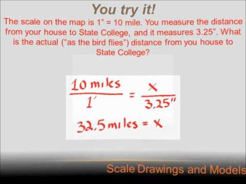 Number Sense Scale Drawings 7th Grade Math Youtube