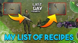 MODDED RECIPES AND MODIFYING FN SCAR &amp SAW MACE    LAST DAY ON EARTH: SURVIVAL