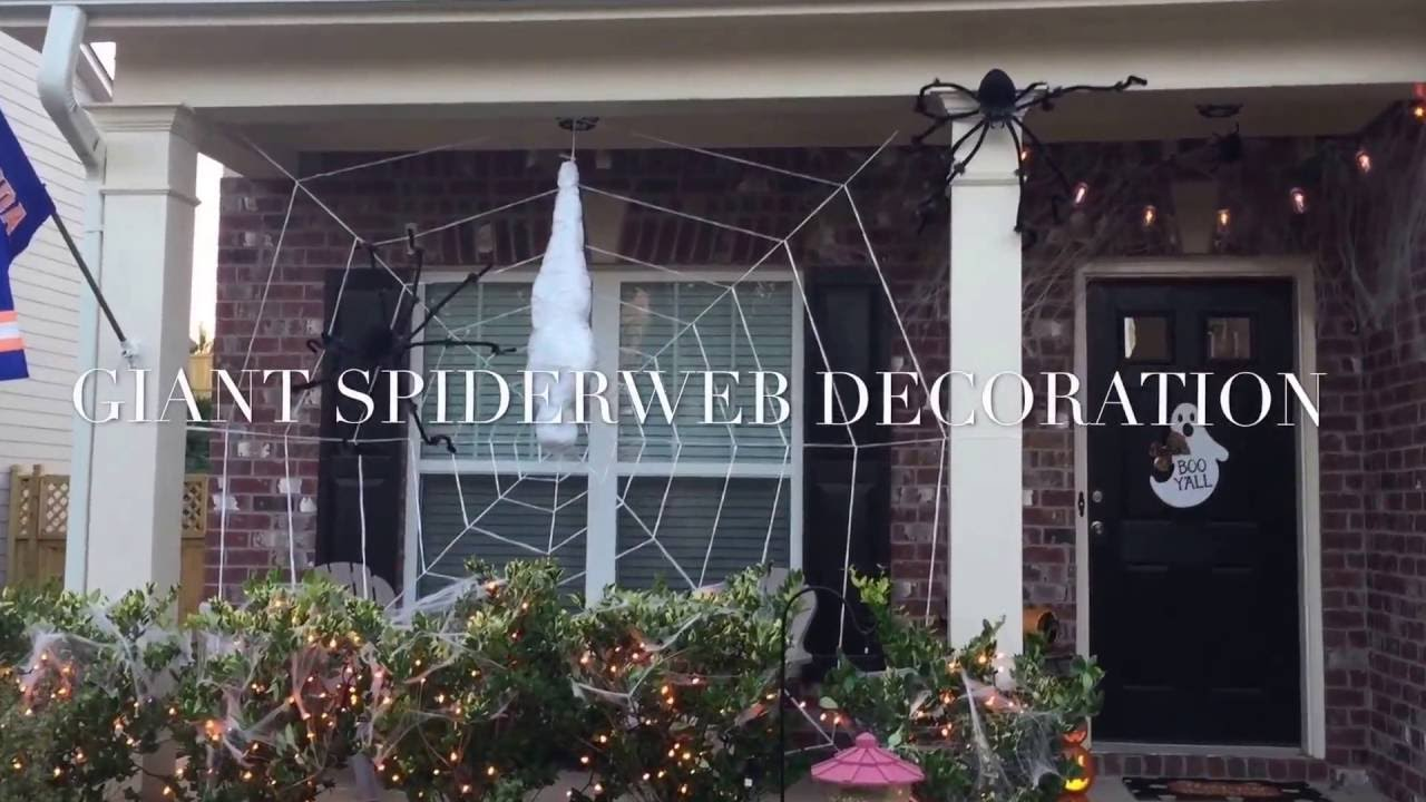how to giant spider web halloween decorations diy