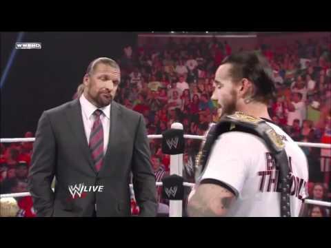 WWE RAW 1/8/11 CM Punk and Triple H segment *HD*