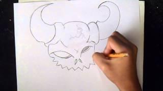 как рисовать  Череп Демон | граффити(Рисование Череп Демон граффити музыка (Audiomicro.com) Cant Stop My Hustle., 2014-10-21T03:03:55.000Z)