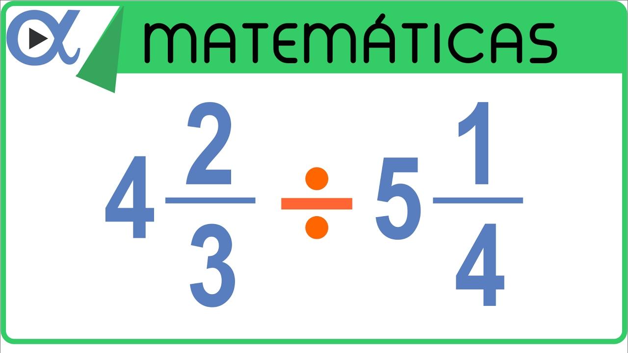 División de fracciones mixtas | Aritmética - Vitual - YouTube