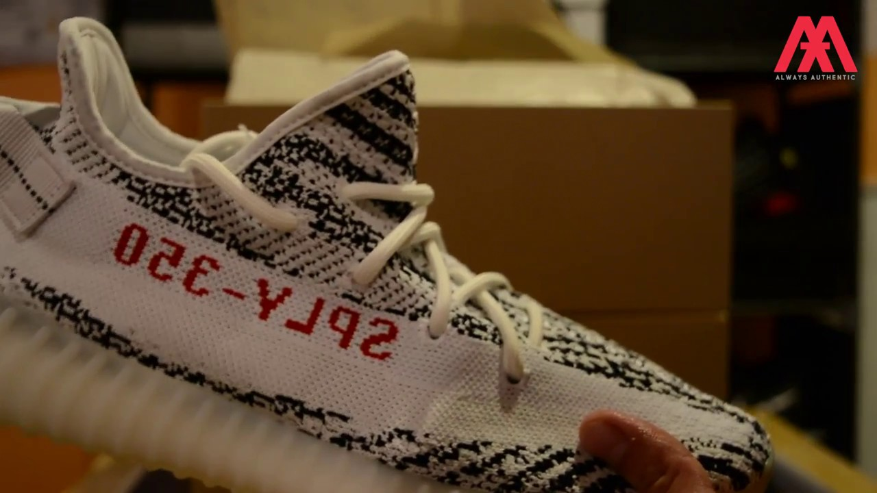 a2bbbe4c1 Yeezy Boost 350 v2 Zebra UNBOXING by AlwaysAuthenticva.com - YouTube