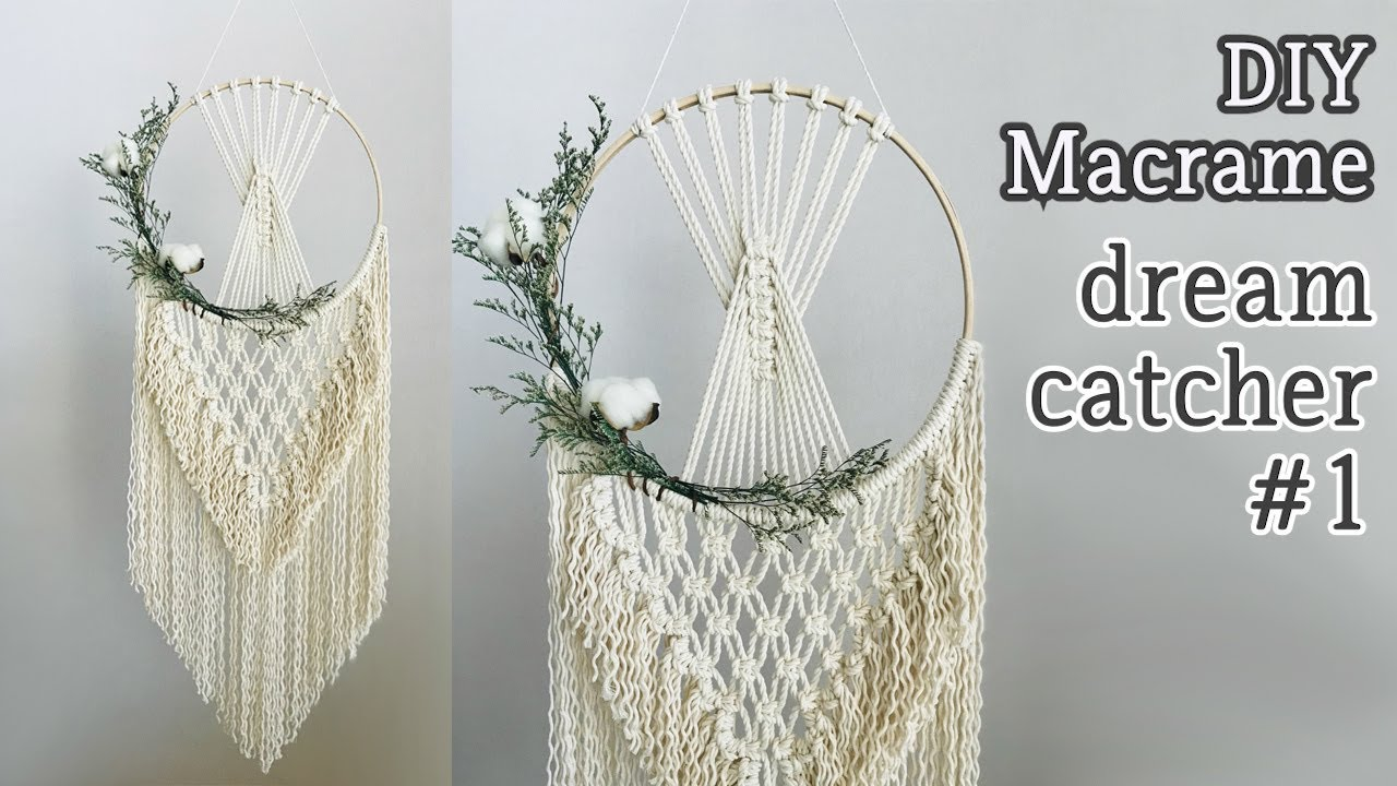 Always Wanted To Make Your Own Boho Macrame Dreamcatcher It S Super Easy I Promise Simply Pick Your Favorite Macrame Diy Macrame Patterns Tutorials Macrame