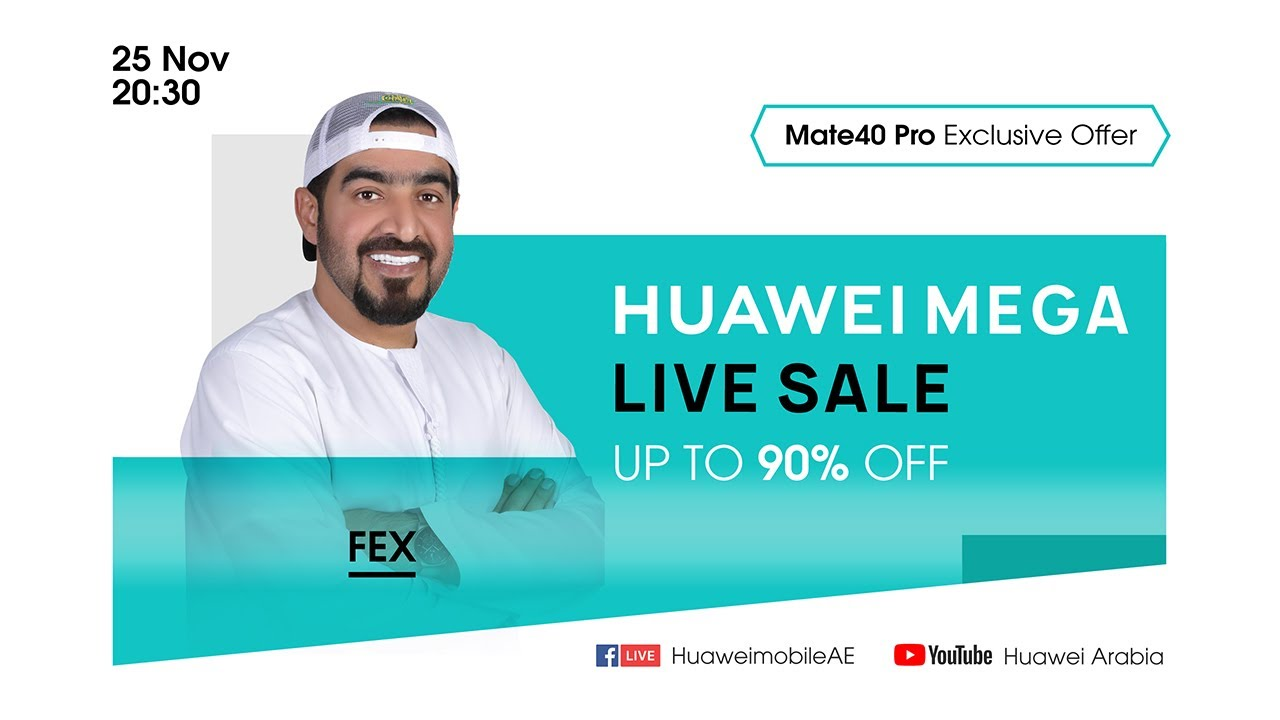 HUAWEI MEGA Live Sale with FEX