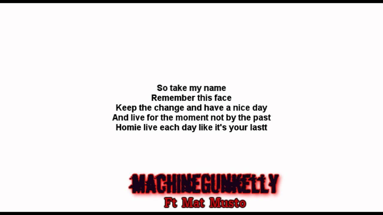 mgk end of the road lyrics