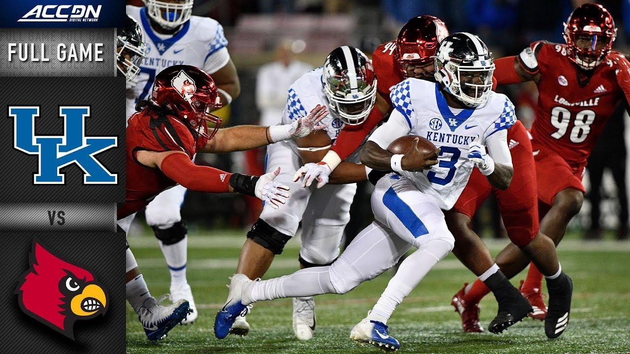 Kentucky vs. Louisville Full Game | 2018 ACC Football ...