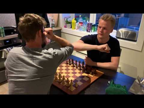 World Chess Champion Magnus Carlsen destroys 1864 FIDE elo in handicap blitz chess