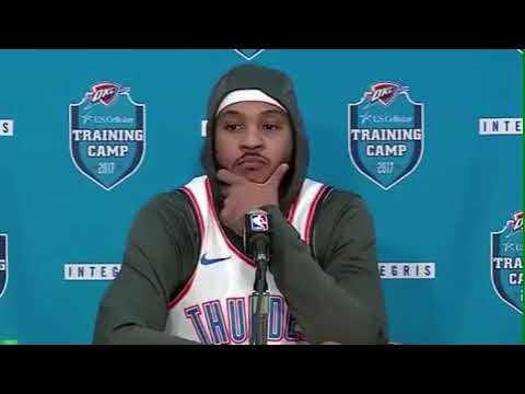 Carmelo Melo Press Conference Ask about coming off the bench