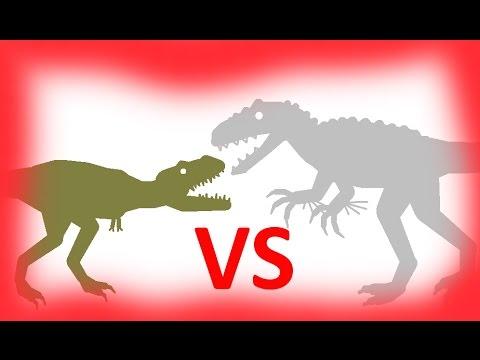 Indominus Rex vs Tarbosaurus. Dinosaurs Cartoons. Индоминус против Тарбозавра Динозавры Мультфильм