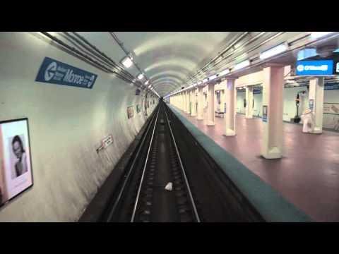 CTA Blue Line Subway Rearview Ride