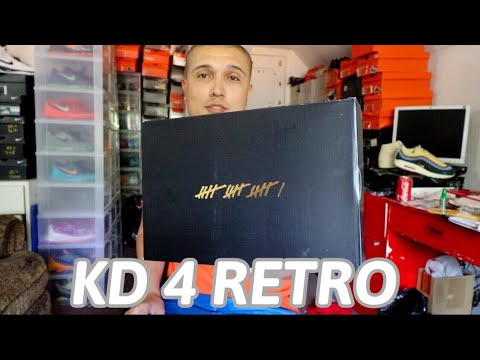 NEW KD 4 RETRO EARLY UNBOXING
