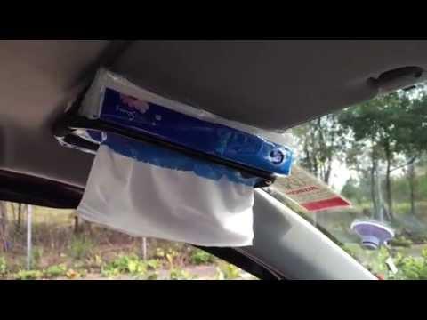 Car Sun Visor Tissue Box Holder Back Seat Headrest Mount