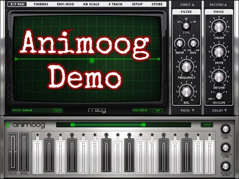 ANIMOOG by Moog - ON SALE - Demo for the iPad