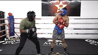 My Nephew Juan Funez Professional Boxer Sparring Session!