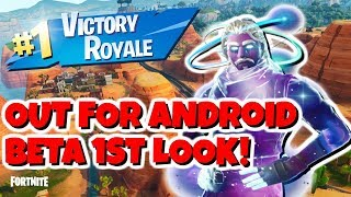 NEW Fortnite Battle Royale Mobile First Look and Tips - Samsung + Android Beta OUT NOW
