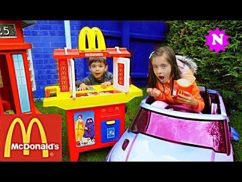 MCDONALDS DRIVE THRU Pretend Play Kids Fun