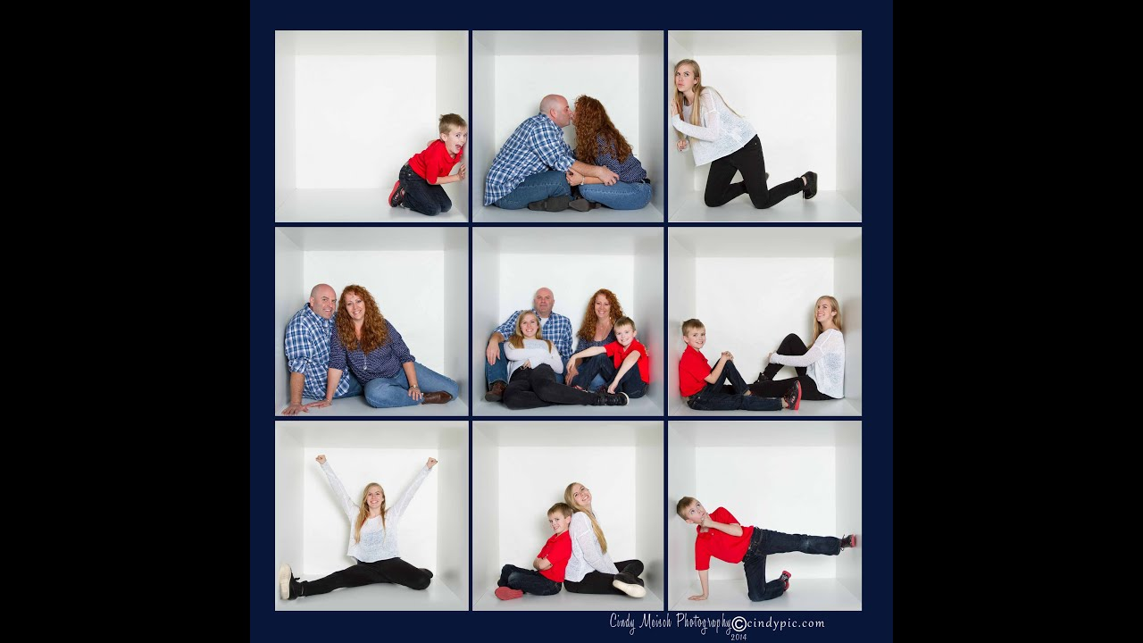 Fun Family Get in the Box! Photo Session - YouTube