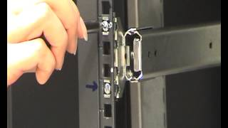 How to mount slides into an electronic enclosure/rack using brackets
