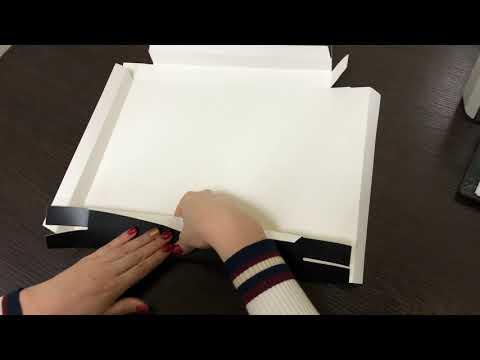 Как собрать крышку от коробки