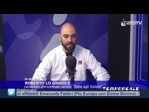 Elezioni. I candidati a Tempo Reale: Roberto Lo Giudice (Italia agli Italiani)