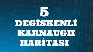SAYISAL ELEKTRONİK DERSLERİ: Beş Değişkenli Karnaugh Haritası
