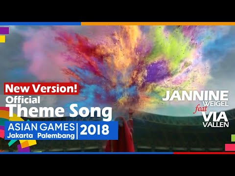 MIX Meraih Bintang - Jannine Weigel x Via Vallen  Official Theme Song Asian Games 2018 (3 Languages)