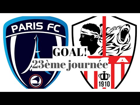 Paris FC AC Ajaccio Goals And Highlights