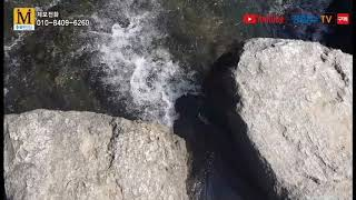 [cbMTV]청주 청석굴 유원지 비어있는 구명조끼함 눈…