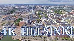 Helsinki  FINLAND Above  4K drone scenery