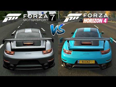 Forza Horizon 4 vs Forza Motorsport 7 | Cars Engine Sounds Direct Comparison | thumbnail