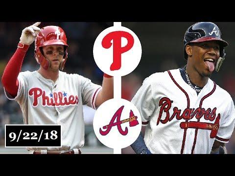 Philadelphia Phillies vs Atlanta Braves Highlights || September 22, 2018