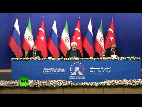 Putin, Erdogan and Rouhani address media following trilateral meeting on Syria