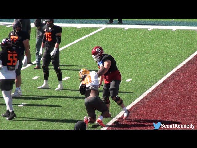 Creed Humphrey Highlights - Senior Bowl