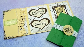 Inloveartshop Creative Folding Card | Mini Scrapbook Tutorial